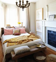 small bedroom with fireplace - Google Search
