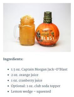 "Captain Morgan Jack-O Blast ""Captains Caldron""  drink"