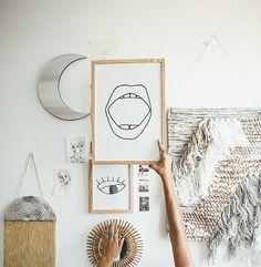 Tessa Barton: NYC Apartment & Giveaway Wall art