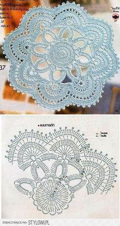 Watch The Video Splendid Crochet a Puff Flower Ideas. Wonderful Crochet a Puff Flower Ideas. Crochet Doily Diagram, Crochet Flower Patterns, Crochet Chart, Thread Crochet, Crochet Motif, Irish Crochet, Crochet Designs, Crochet Stitches, Crochet Flowers