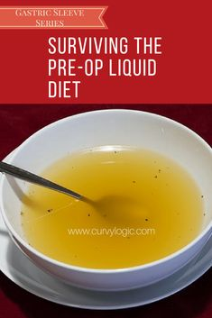 Pre-Op Liquid Diet for Gastric Sleeve - Detox Diet Ideen Pre Bariatric Surgery Diet, Bariatric Eating, Bariatric Recipes, Diet Recipes, Vsg Surgery, Liquid Diet Plan, Best Liquid Diet, Liquid Diet Foods, Portuguese Recipes