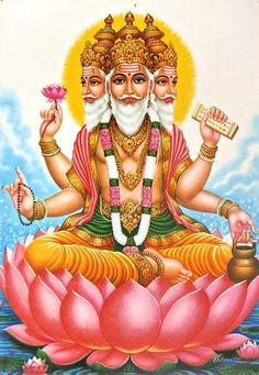 Brahma, Vishnu and Mahesh( Shiva) are the Hindu Trinity. Brahma creates the Universe, Vishnu sustains it and Shiva destroys it, so …Continue reading Hindu Kunst, Hindu Art, Ganesha, Hare Krishna, Krishna Art, Indian Gods, Indian Art, Lord Shiva, Brahma