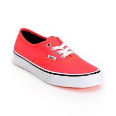 Vans Girls Authentic Neon Red & Orange Shoe at Zumiez : PDP