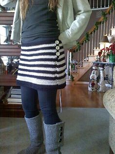 """Ravelry: Project Gallery for Skirt """"Harvest"""" pattern by Britta Kremke.......could easily make longer"""