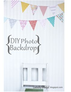 Find it, Make it, Love it: DIY Photo Backdrop