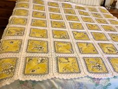 Patchwork Quilt Fusion Crochet PATTERN Stunning results | Etsy Crochet Quilt Pattern, Patchwork Quilt Patterns, Crazy Patchwork, Crochet Pillow, Patchwork Ideas, Yellow Quilts, Quilting Templates, Quilting For Beginners, Hand Quilting