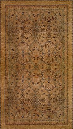 Antique Lavar Kerman Rug –  Circa:1890 Sizes:11.2X16