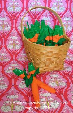 Carrot Napkins for Easter