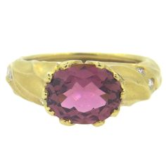 Ex Tiffany jeweller Pedro Boregaard pink tourmaline circa 1987. Anything as long as it's pink.