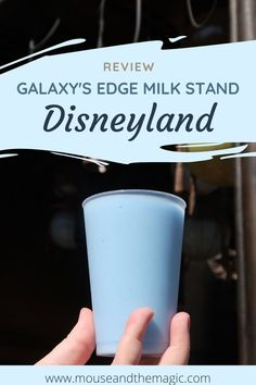 The milk stand is a quick service food location located in the Galaxy's Edge area of Disneyland. Blue milk is one of the iconic Star Wars foods every since it was first served to Luke Skywalker in the original movie. Read our review and of course food pho Disneyland Dining, Disneyland Restaurants, Disneyland Food, Disney Dining, Disney On A Budget, Disney Planning, Trip Planning, Planning Board, Best Disney World Food