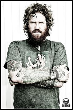 Brent Hinds | Mastodon The metal man- can dig even with the facial tattoos...