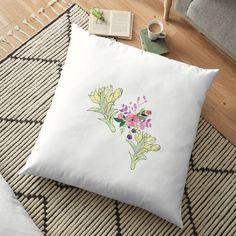 Floor Pillows, Throw Pillows, Painting Prints, Art Prints, Bubble Art, Vintage Soul, Pastel Flowers, Scatter Cushions, Local Artists