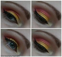 Colourful Spring makeup!  #eyemakeup #bright #colors #eyeshadow