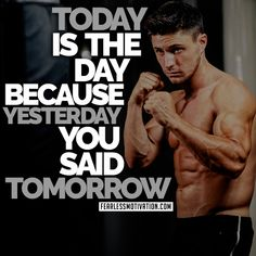 It can be easy to slack on your fitness when you get busy. Don't allow excuses to set you back in your fitness routine. Stick with it! Sport Motivation, Fitness Motivation, Yesterday You Said Tomorrow, Weight Lifting, Weight Loss, Boxing Classes, Friday Workout, You Fitness, Fitness Goals