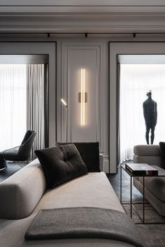 Home Interior Design, Interior Architecture, Interior Decorating, Küchen Design, House Design, Living Room Designs, Living Spaces, Modern Classic Interior, Living Room Windows