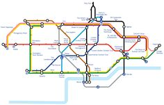 A very handy tube inspired map of cocktail bars in London by Gin Monkey
