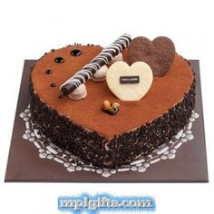 CHOCOLATE CRUNCH HEART CAKE