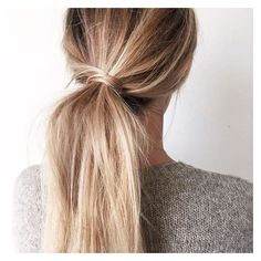 classic pony tail with a cute twist. ❤ liked on Polyvore featuring accessories, hair accessories and hair