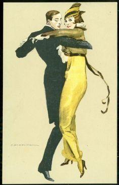 Dudovich Art Deco Postcard Tango Dance Woman in Hobble Skirt | eBay