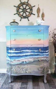 Cheap Furniture Makeover, Diy Furniture Renovation, Design Furniture, Painted Furniture, Beach Furniture, Bedroom Furniture, Classic Home Decor, Vintage Home Decor, Kylie Jenner