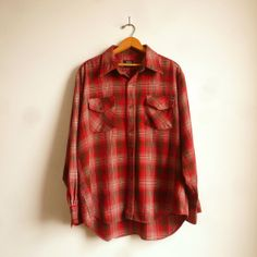 90's Grunge Plaid Shirt Red Plaid Shirt by thatwasagoodyear, $34.00 90s Fashion Grunge, 90s Grunge, Heavy Red, 90s Hip Hop, Draped Fabric, Boyfriend Shirt, Red Plaid, Sleeves, How To Wear