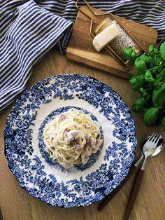 Kremet spaghetti – Anine Gutubakken Byles Parma, Prosciutto, Chorizo, Spaghetti, Blog, Blogging, Noodle