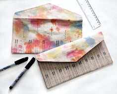 handmade gifts – watercolor clutch DIY (via @Marianne Tone Silveira Correa - Small for Big )