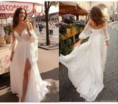 New Arrival Beach Wedding Dresses 2019 Sweetheart Lace Bohemian Wedding Dress With Detachable Sleeves Split Boho Bridal Gown Bohemian Wedding Dresses, Sexy Wedding Dresses, Wedding Dress Sleeves, Elegant Wedding Dress, Perfect Wedding Dress, Empire Line Wedding Dress, Custom Wedding Dress, Sweetheart Wedding Dress, Bridal Gowns
