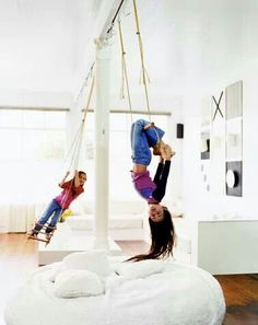 I properly want an indoor swing. Adults get first go.