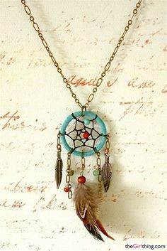 Dreamcatcher necklace <3 <3 <3