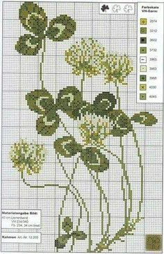 Cross stitch clovers