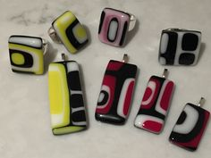 Be bold. Unique fused glass jewellery by SpallekGlassArt.