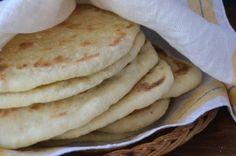freshly cooked homemade pita bread
