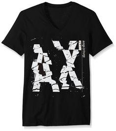 [Affiliate]  Amazon.com: A|X Armani Exchange Men's Broken AX Logo V Neck: Clothing #Armani #Black #Luxury