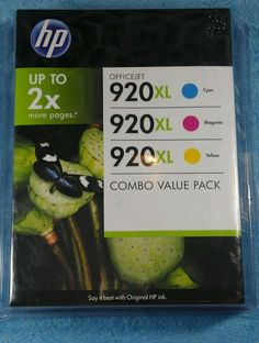 Genuine New 3 HP 920XL Combo-Pack high capacity XL Ink Cartridges C /M / Y #HP