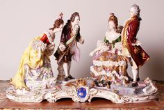 Accepting Best offers $18000 Orig 19thC Dresden Figural Couples Porcelain Group…
