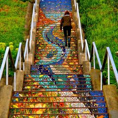 19 Stunning Staircases Transformed by Artists Around the World