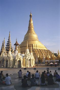 The Shwedagon Pagoda in Rangoon. When I was a kid, we lived in Burma and every Sunday, after church, we would go to the pagoda to leave votive offerings of flowers and candles to the Lord Buddha.