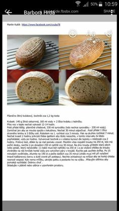 Sourdough Bread, Baked Potato, Food And Drink, Gluten Free, Yummy Food, Meals, Baking, Ethnic Recipes, Erika
