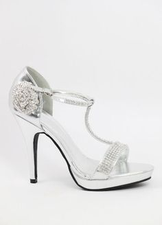Pinned onto Womens Shoes Board in Shoes Category Silver Heels, Cute Shoes, Women, Fashion, Moda, Fashion Styles, Fashion Illustrations, Woman