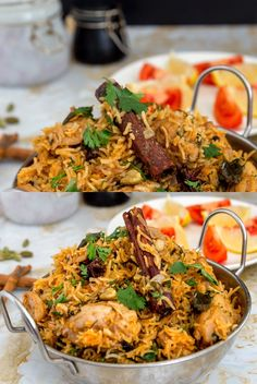 This one-pot chicken biryani is a quick version of the classic Indian biryani. Made with basmati rice, Indian spices, caramelized onions & takes only 30 min Quick Chicken Biryani Recipe, Indian Chicken Recipes, Chicken Recipes Video, Biryani Chicken, Pakistani Chicken Biryani Recipe, Best Mutton Biryani Recipe, Indian Chicken Marinade, Chicken Byriani Recipe, Indian Chicken Curry
