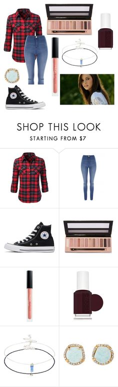 """""""Lisa McGuiness Everyday outfit"""" by thegirlwithglasses1354 ❤ liked on Polyvore featuring Doublju, Jane Norman, Converse, L.A. Girl, Huda Beauty, Essie, Accessorize and Louise et Cie"""
