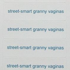 Hey, I found this really awesome Etsy listing at https://www.etsy.com/listing/108451155/40-stickers-street-smart-granny-vaginas