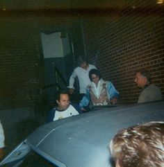 July 24, 1976: Elvis leaving Daniel Boone Hotel to go to his show in Charleston, West Virginia, at the Civic Center.
