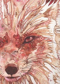 Rust Fox 5 x 7 print of Fox watercolour от DeepColouredWater