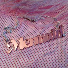 "nice necklace, ""mermaid"""