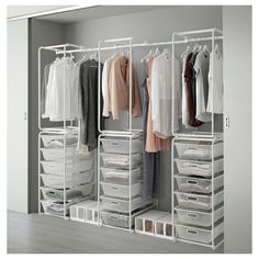 Cute IKEA ALGOT frame mesh baskets rod Can also be used in bathrooms and other Begehbarer Kleiderschrank