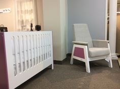 Urban Glider and Cupcake Crib from Dutailier at Bébé Dépôt Gliders, Cribs, Cupcake, Urban, Bed, Furniture, Home Decor, Bassinet, Cots