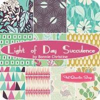 Light of Day Succulence Fat Quarter Bundle<BR>Bonnie Christine for Art Gallery Fabrics