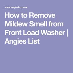 how to get rid of mildew smell in washing machine